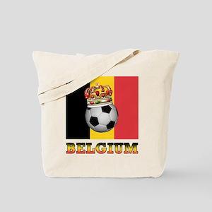 Belgium Football Tote Bag
