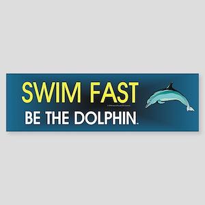Swim Slogan Sticker (Bumper)