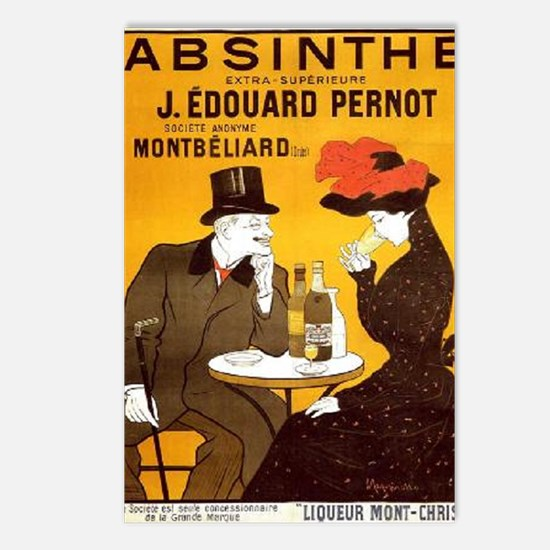 Cool Absinthe art Postcards (Package of 8)