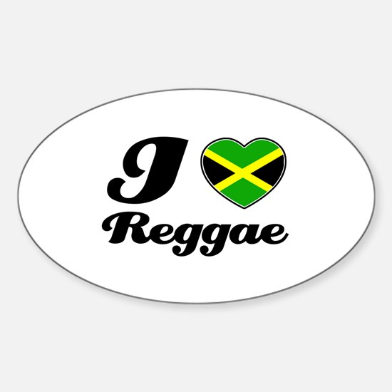 I love Reggae Oval Decal