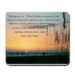 Sea Oats - Philippians 4:8 Mousepad