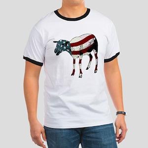 American Sheeple Ringer T