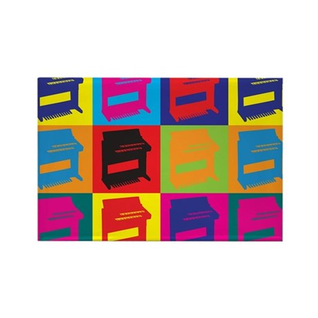 Organ Pop Art Rectangle Magnet (10 pack)