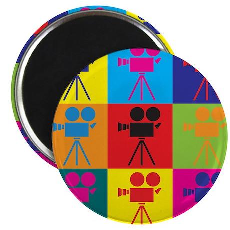 "Operating a Camera Pop Art 2.25"" Magnet (100 pack)"