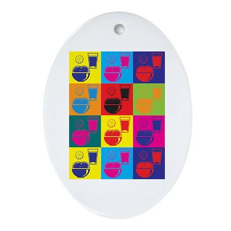 Nutrition Pop Art Oval Ornament