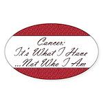 Cancer Not Who I Am Oval Sticker (50 pk)