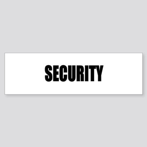 Security Bumper Sticker
