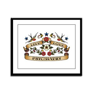 Live Love Psychiatry Framed Panel Print