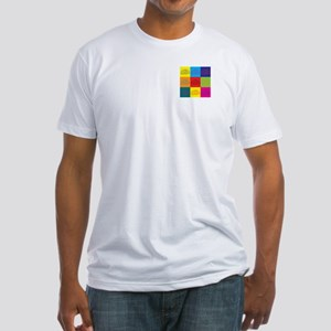 Neuroscience Pop Art Fitted T-Shirt