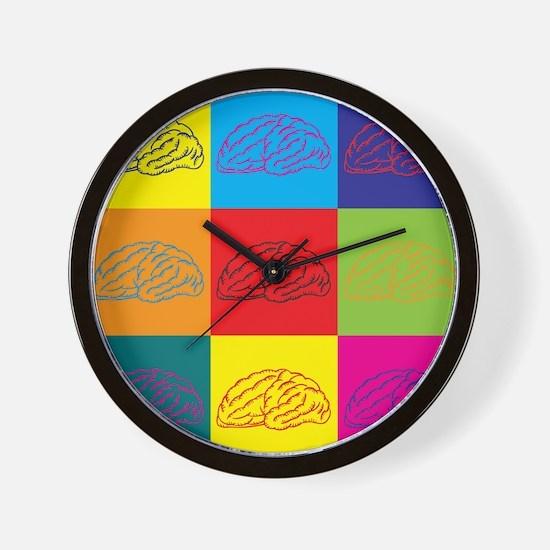 Neuroscience Pop Art Wall Clock