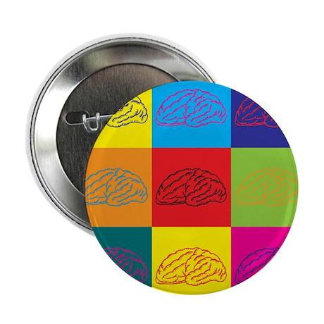 """Neuroscience Pop Art 2.25"""" Button"""