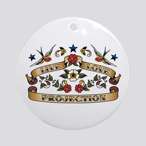 Live Love Projection Ornament (Round)