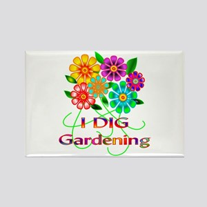 Gardening Rectangle Magnet