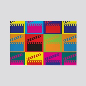 Movies Pop Art Rectangle Magnet