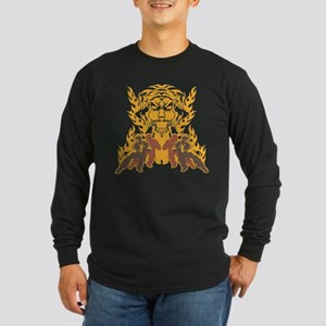 """Tiger Kung Fu"" Long Sleeve Dark T-Shirt"