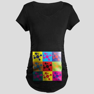Molecular Biology Pop Art Maternity Dark T-Shirt