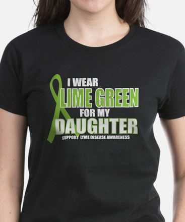 LD: Lime Green For Daughter Women's Dark T-Shirt