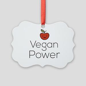 Vegan Power Picture Ornament