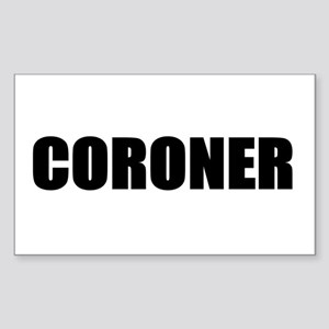 Coroner Rectangle Sticker