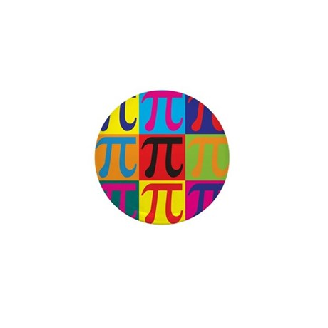 Math Pop Art Mini Button (10 pack)