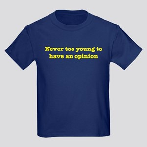 Never Too Young Kids Dark T-Shirt