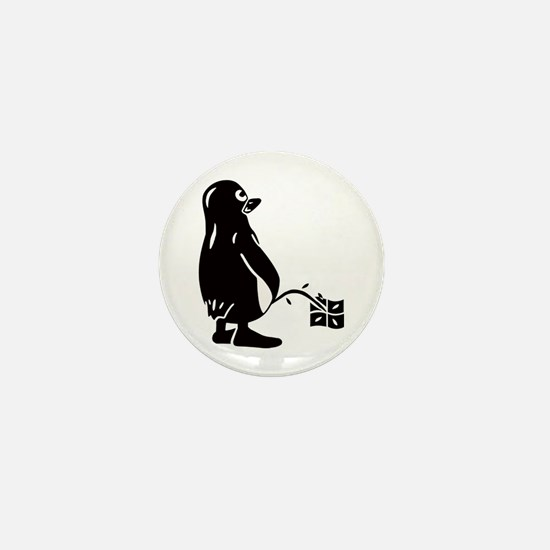 Cute Tux Mini Button