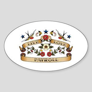 Live Love Payroll Oval Sticker
