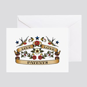 Live Love Patents Greeting Card