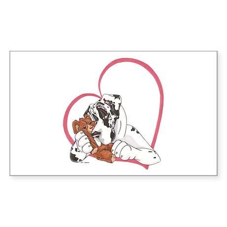 NH Heartline Bearhug Rectangle Sticker