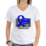 Cure For Colon Cancer Women's V-Neck T-Shirt