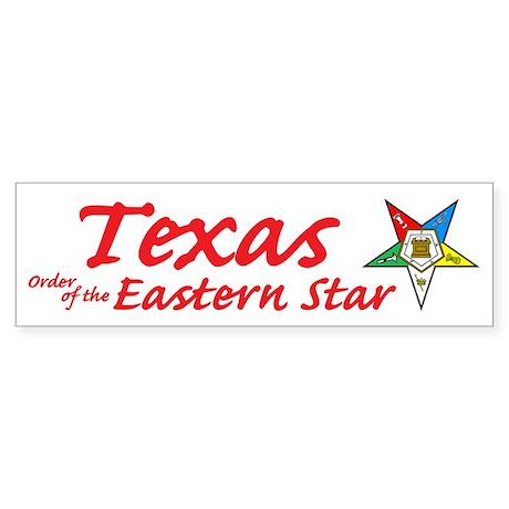 Texas Eastern Star Bumper Sticker