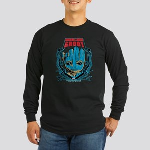 GOTG Groot Smile Long Sleeve Dark T-Shirt
