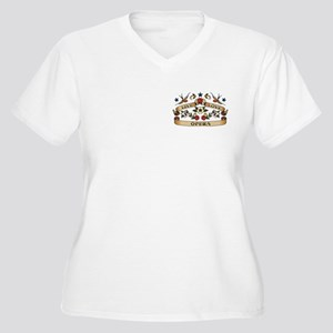 Live Love Opera Women's Plus Size V-Neck T-Shirt