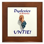 Dyslexics Untie! Framed Tile