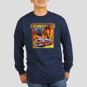 LADDER TRUCK Long Sleeve Dark T-Shirt