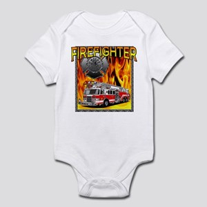 LADDER TRUCK Infant Bodysuit