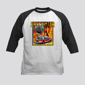 LADDER TRUCK Kids Baseball Jersey