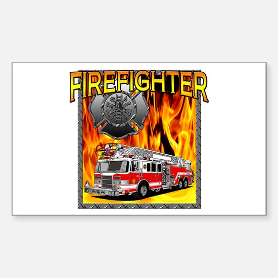 LADDER TRUCK Rectangle Decal