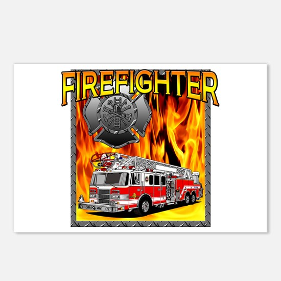 LADDER TRUCK Postcards (Package of 8)