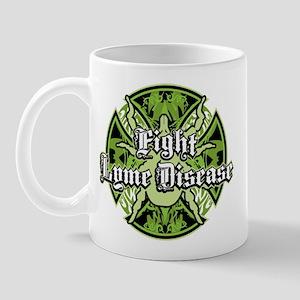 Lyme Disease Iron Cross Mug
