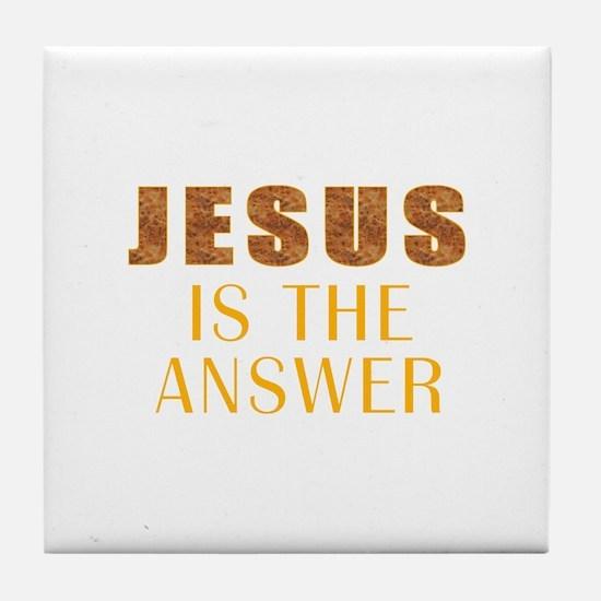Funny Christ Tile Coaster