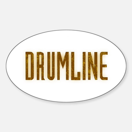 Drumline Brown Oval Decal