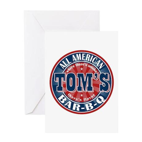 Tom's All American BBQ Greeting Card