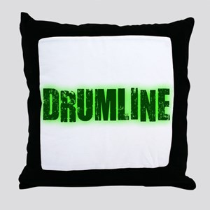 Drumline Green Throw Pillow