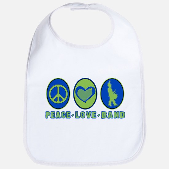 PEACE - LOVE - BAND Bib