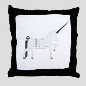 INFJ Unicorn Throw Pillow