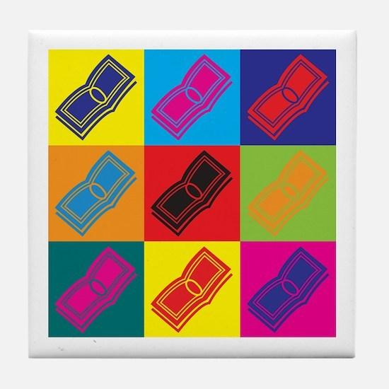 Loans Pop Art Tile Coaster
