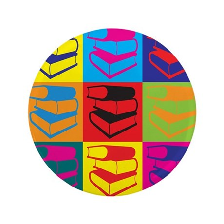 """Library Work Pop Art 3.5"""" Button (100 pack)"""