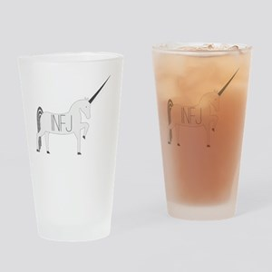 INFJ Unicorn Drinking Glass