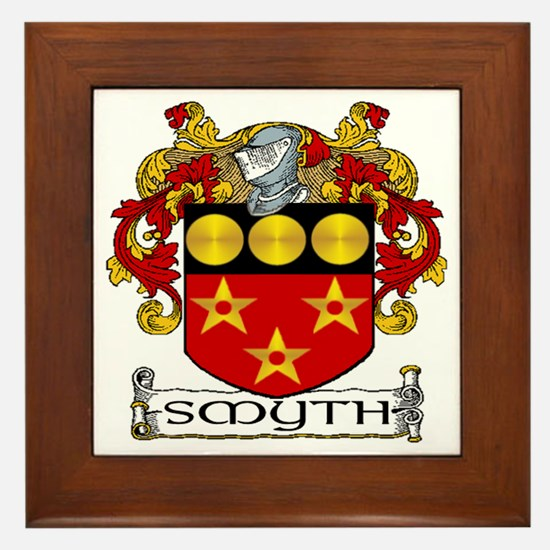 Smyth Coat of Arms Framed Tile